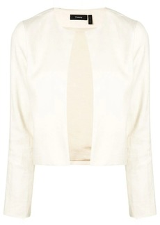 Theory open front cropped jacket
