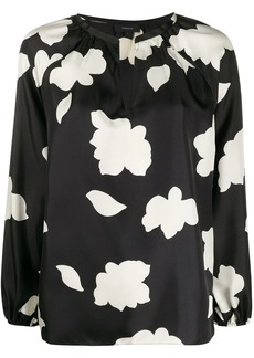 Theory open-neck silk blouse