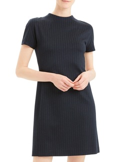 Theory Pale Stripe Dolman-Sleeve Shift Dress