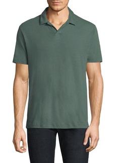 Theory Palm Jersey Open Polo Shirt