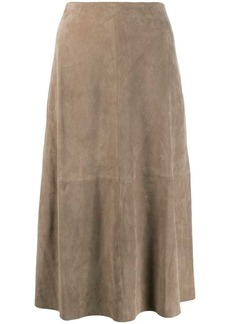 Theory panelled skirt