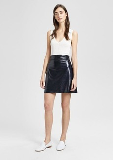 Theory Patent Leather Mini Skirt