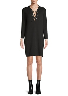 Theory Patrinelle Lace-Up Shirt Dress