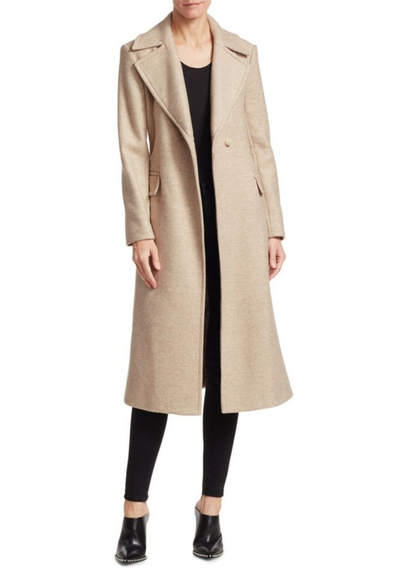 725e760ee82 Theory Perfect Belted Wool-Blend Trench Coat Now $196.49