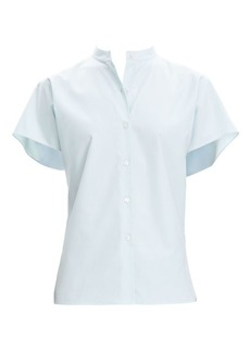 Theory Perfect Cotton Short Sleeve Blouse
