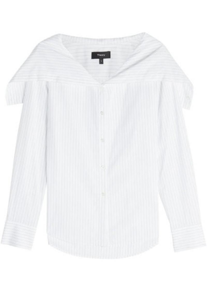 Theory Pinstripe Cotton Shirt