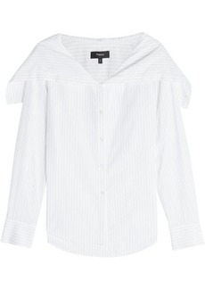 Theory Pinstripe Cotton Shirt