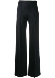 Theory pinstripe wide leg trousers