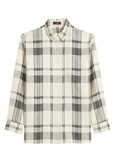 Theory Plaid Collared Shirt