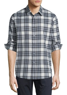 Theory Plaid Cotton Sport Shirt