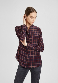 Theory Plaid Dolman Blouse