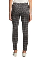 Theory Plaid Skinny Leggings