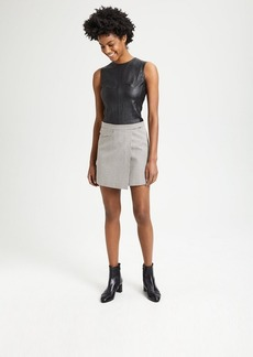 Theory Plaid Snap Mini Skirt