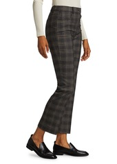 Theory Plaid Straight Pants