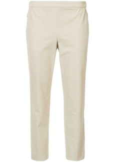 Theory plain slim cropped trousers