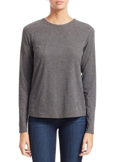 Theory Pleat Back Long-Sleeve Top