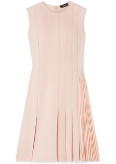Theory Pleated Crepe Mini Dress