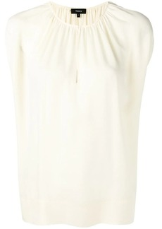 Theory pleated front blouse