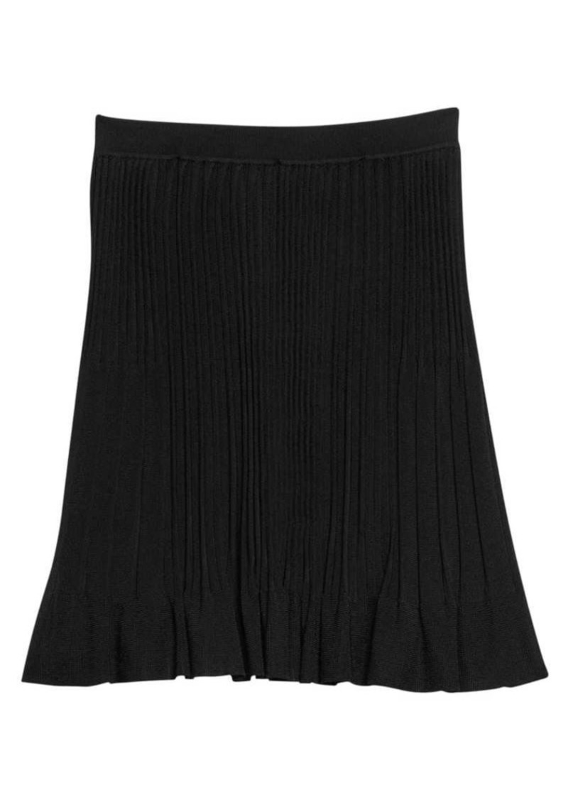 Theory Pleated Knit Skirt