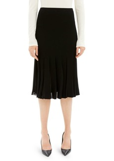 Theory Pleated Midi Skirt