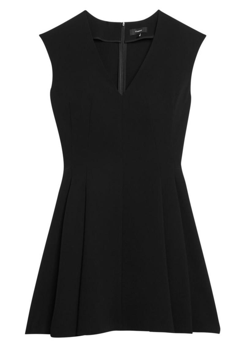 Theory Pleated Mini Dress