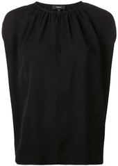 Theory pleated neck blouse