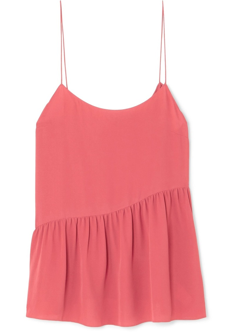 Theory Pleated Silk-crepe Camisole