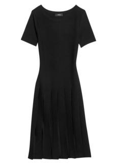 Theory Pleated T-Shirt Mini Dress