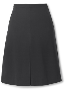 Theory Pleated Wool-blend Skirt