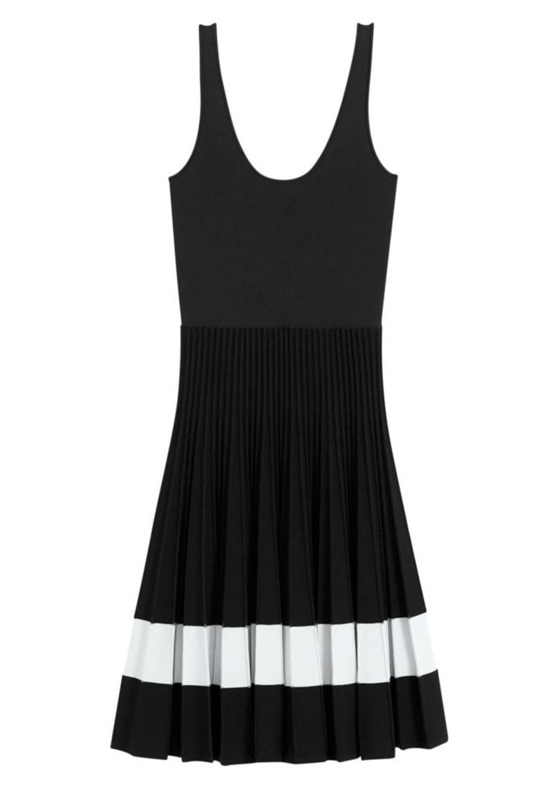 Theory Plissé A-Line Tank Dress