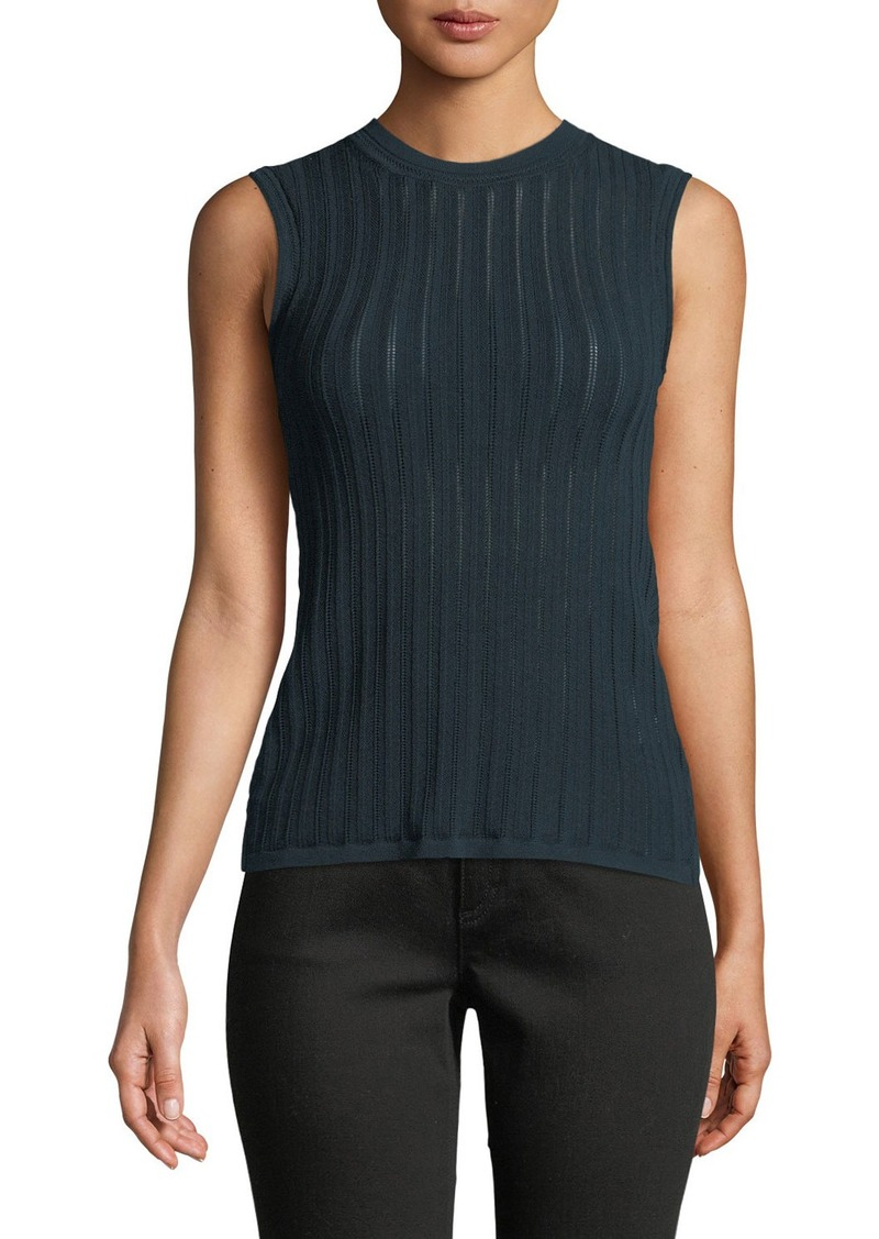 Theory Pointelle Prosecco Knit Crisscross Top