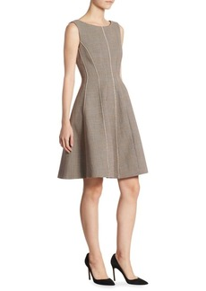 Theory Polished Plaid A-Line Dress