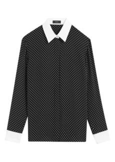 Theory Polka Dot Combo Shirt