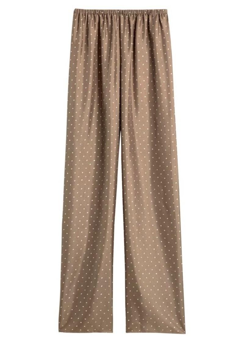 Theory Polka Dot Silk Pull-On Pants