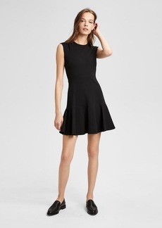 Theory Ponte Essential Flare Dress