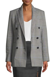 Theory Power Portland Windowpane Double-Breasted Jacket