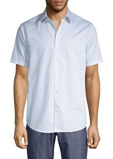 Theory Printed Short-Sleeve Shirt