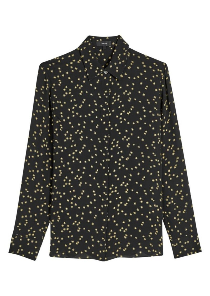 Theory Printed Silk Blouse