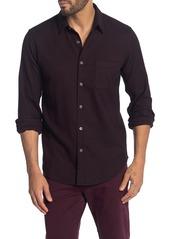 Theory Rammy Knit Twill Long Sleeve Shirt