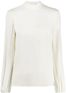 Theory relaxed-fit mock-neck blouse