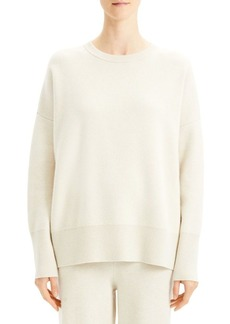 Theory Relaxed Wool-Blend Drop Shoulder Sweater