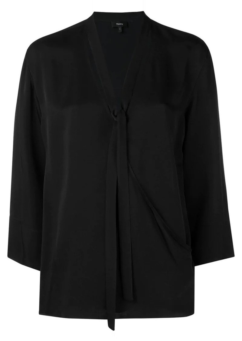 Theory relaxed wrap blouse