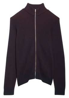 Theory Rennes Merino Wool Front-Zip Sweater