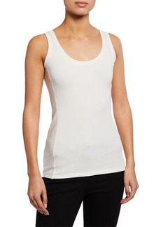 Theory Rib Play Fine Scoop-Neck Tank