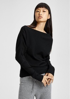 Theory Ribbed Boatneck Pullover