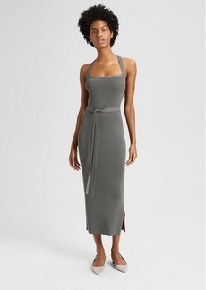 Theory Ribbed Cross Back Dress