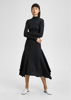 Theory Ribbed Knit Panel Dress