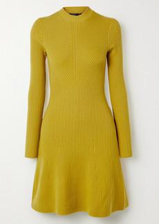 Theory Ribbed Merino Wool-blend Mini Dress