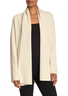 Theory Ribbed Open Front Cashmere Cardigan