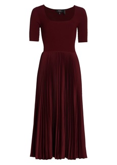 Theory Ribbed Pleated Dress